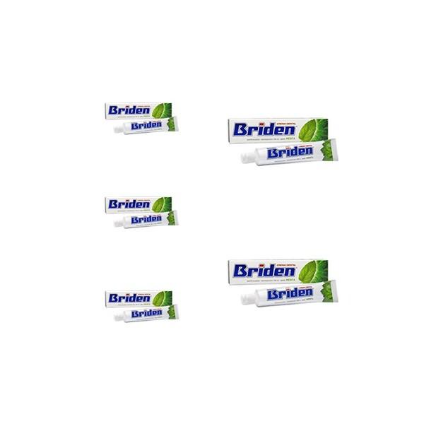 Paquete 5 Pastas dentales Sin flúor Briden